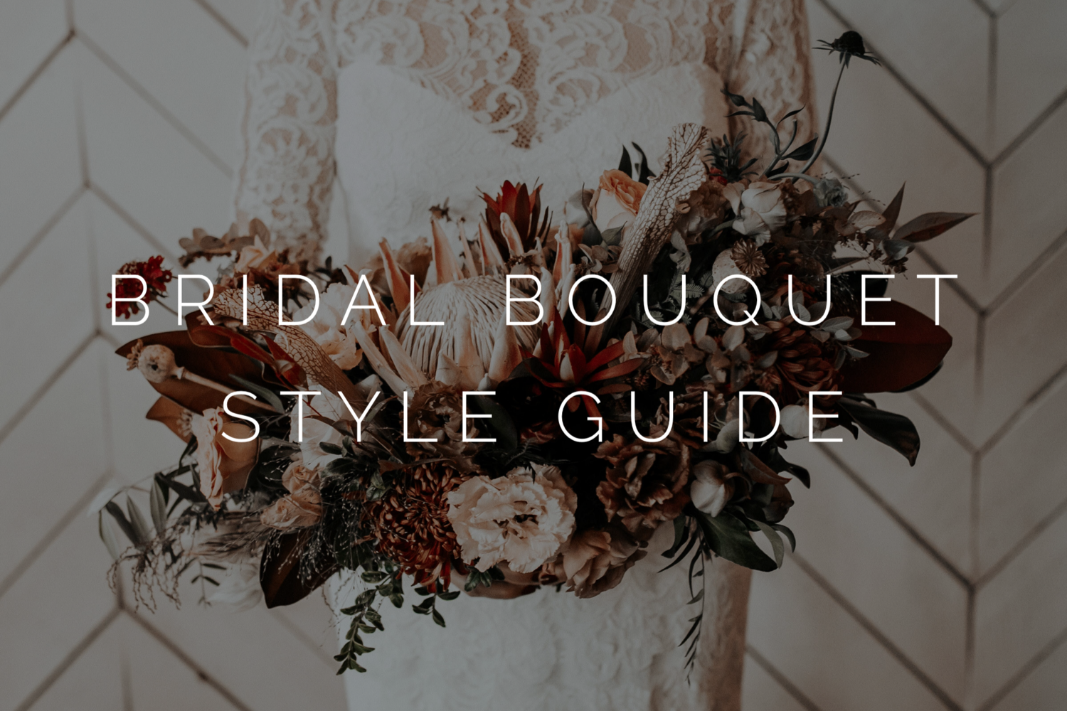 bridal bouquet style guide