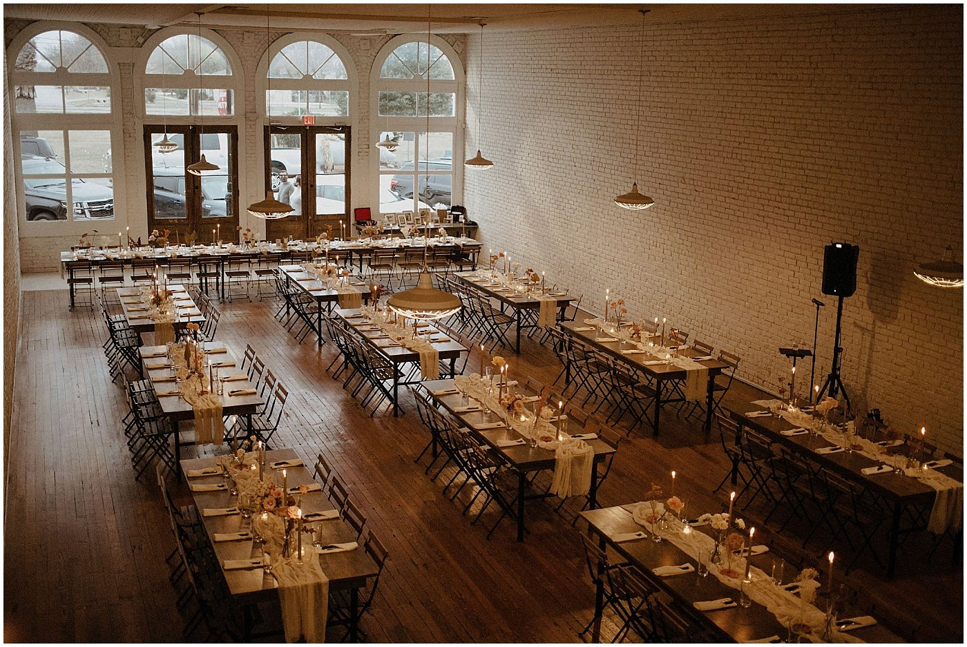 wedding reception set up at one eleven east