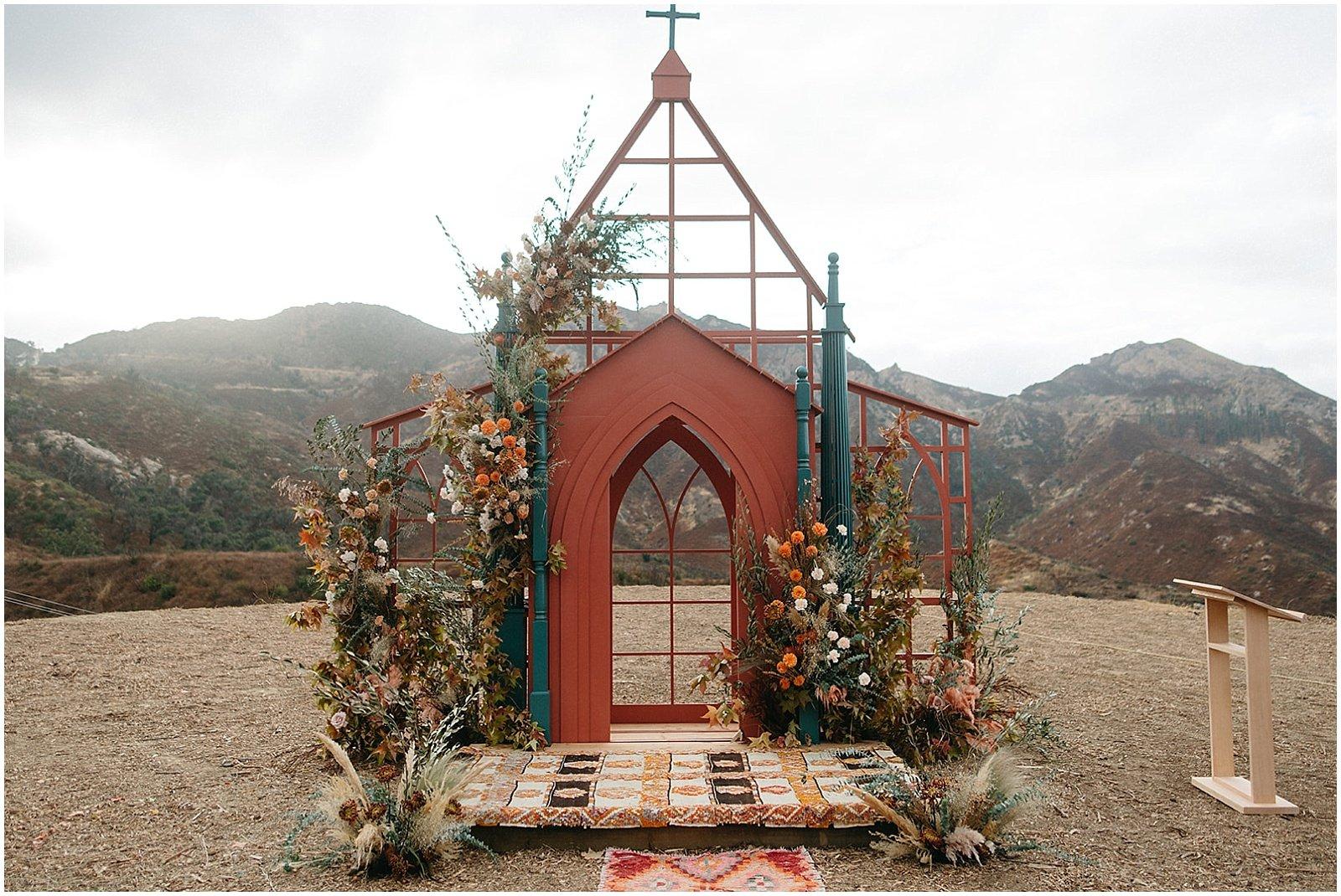 southern california wedding ceremony backdrop