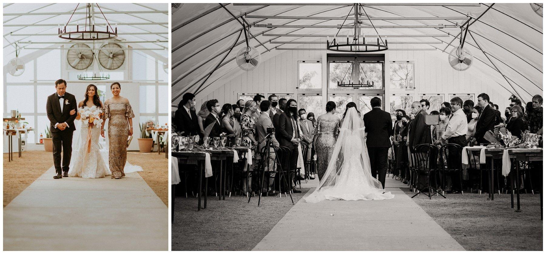wedding ceremony at camino real ranch