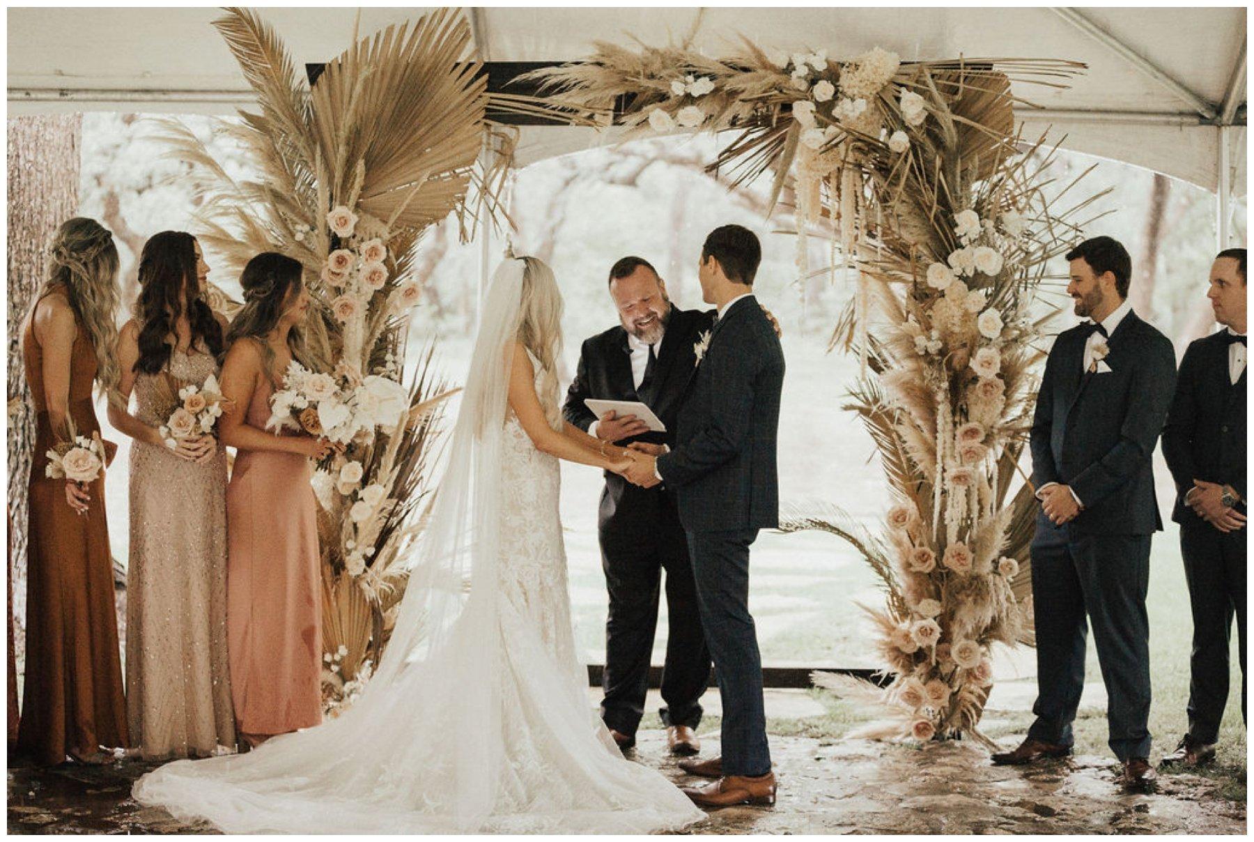boho wedding ceremony at addison grove